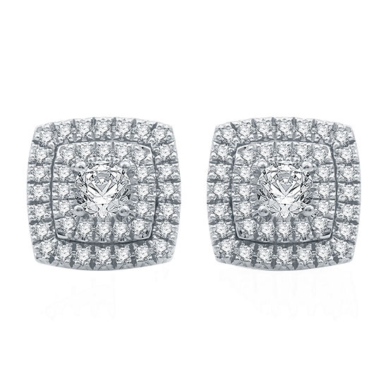 Ever Star 1 CT. T.W. Lab Grown White Diamond 10K White Gold Stud Earrings