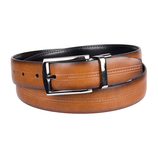 Collection by Michael Strahan Reversible Men's Dress Belt with Center Stitch