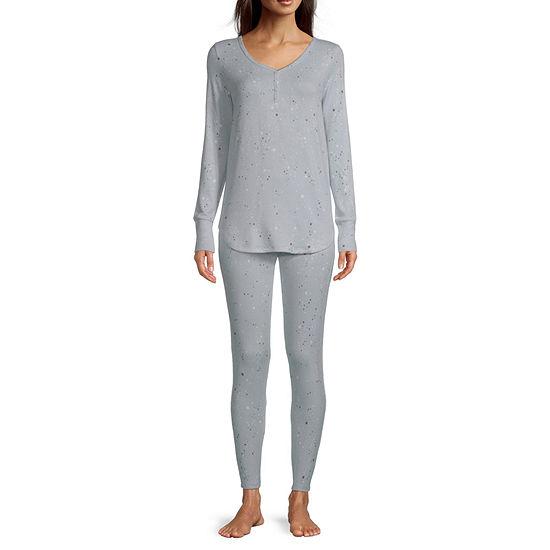 Ambrielle Womens Long Sleeve Pant Pajama Set 2-pc.
