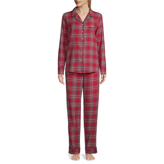 Liz Claiborne Womens Long Sleeve Pant Pajama Set 2-pc.