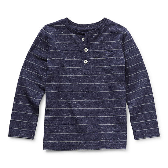 Okie Dokie Toddler Boys Long Sleeve Henley Shirt