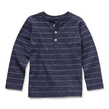 Okie Dokie Toddler Boys Long Sleeve Henley Shirt
