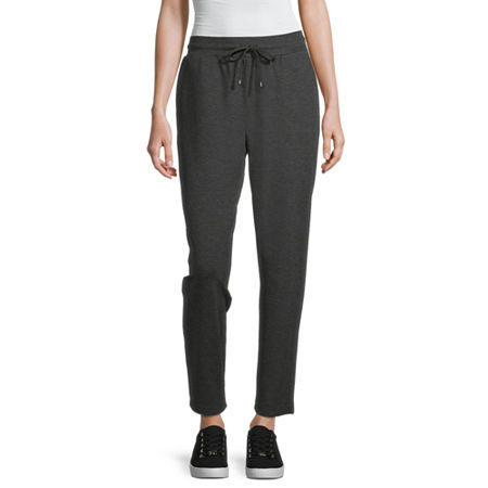 Liz Claiborne Womens Slim Drawstring Pants, Small , Black
