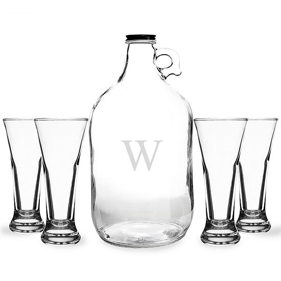 Cathys Concepts Personalized 5 Pc Craft Beer Growler And Mug Set