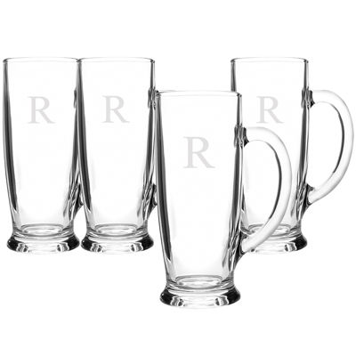Cathy's Concepts Set of 4 Personalized Craft Beer Mugs