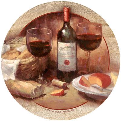 Thirstystone® Wine & Cheese Set of 4 Sandstone Coasters