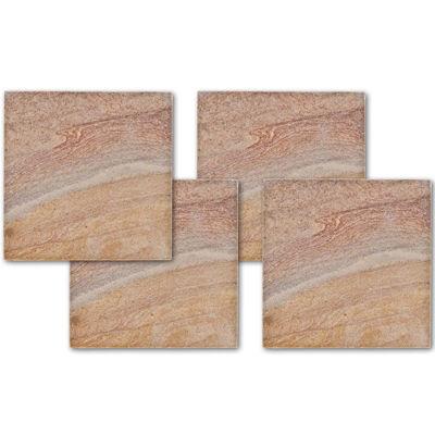 Thirstystone® Rainbow Stone Set of 4 Sandstone Coasters