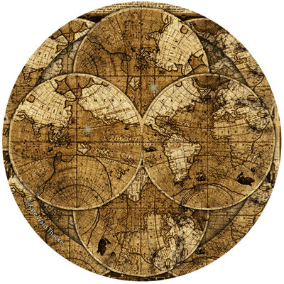 Thirstystone® World Map Set of 4 Coasters