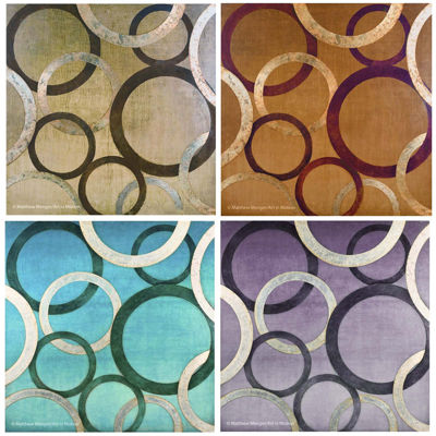 Thirstystone® Peacock Glamour Set of 4 Stoneware Coasters