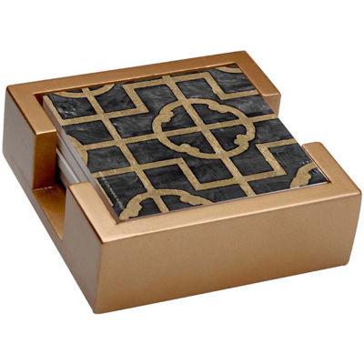 Thirstystone® Ebony Shell Set of 4 Stoneware Coasters Gift Set
