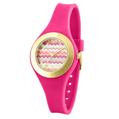 Womens Pink Strap Watch