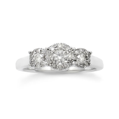 LIMITED QUANTITIES! Womens 1/2 CT. T.W. Round White Diamond 14K Gold Engagement Ring