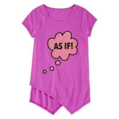 Total Girl Short Sleeve Graphic Tunic - Girls' 7-16 and Plus