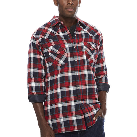 e6b5e371 Ely Cattleman® Flannel Shirt Jacket - Tall - JCPenney