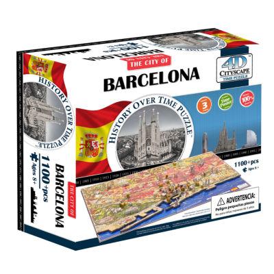 4D Cityscape Time Puzzle - Barcelona;Spain