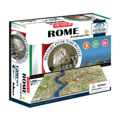 4D Cityscape Time Puzzle - Rome; Italy