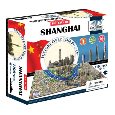 4D Cityscape Time Puzzle - Shanghai;China