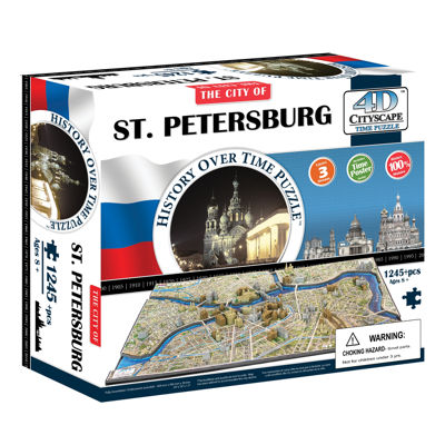 4D Cityscape Time Puzzle - St. Petersburg; Russia