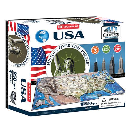 4D Cityscape Time Puzzle - USA