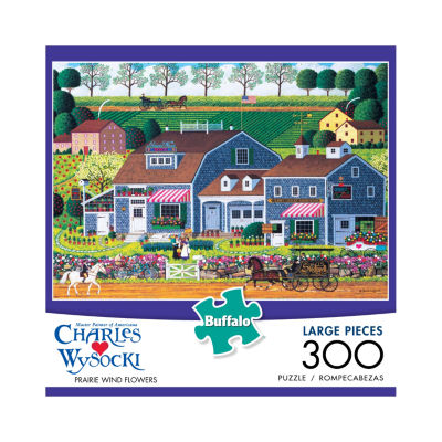 Buffalo Games Charles Wysocki - Prairie Wind Flowers Large Piece Puzzle: 300 Pcs