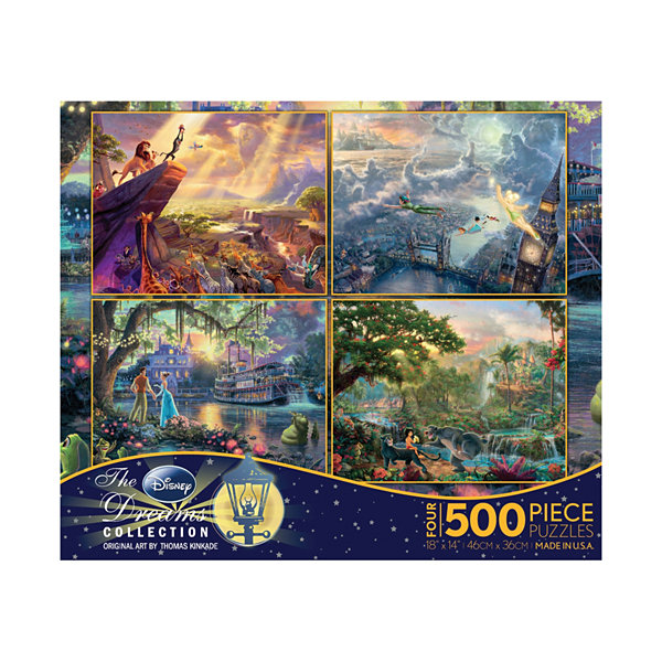 Ceaco Thomas Kinkade Disney Dreams - 4-in-1 JigsawPuzzle Multi-Pack Series 1: 4 x 500 Pcs