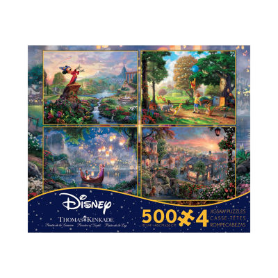 Ceaco Thomas Kinkade Disney Dreams - 4-in-1 JigsawPuzzle Multi-Pack Series 2: 4 x 500 Pcs