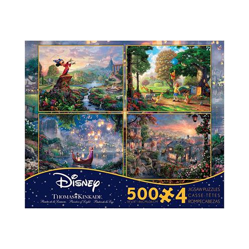 Ceaco Thomas Kinkade Disney Dreams - 4-in-1 JigsawPuzzle Multi-Pack Series 2: 4 x 500 Pcs