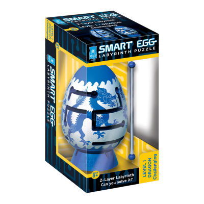 BePuzzled Smart Egg 2-Layer Labyrinth Puzzle - Blue Dragon: Challenging