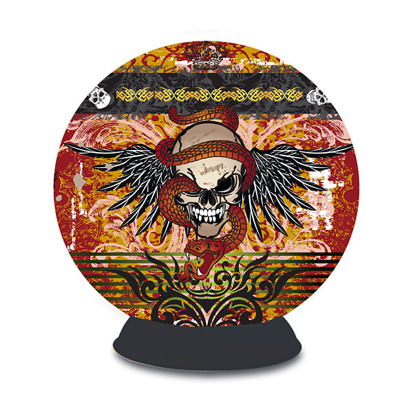 BePuzzled Lifestyle 3D Puzzle Sphere - Skull Tattoo: 240 Pcs
