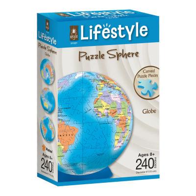 BePuzzled Lifestyle 3D Puzzle Sphere - Globe: 240Pcs