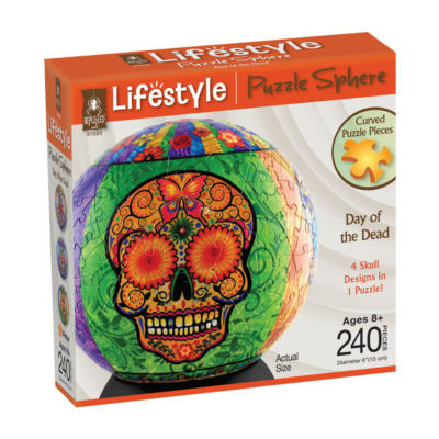 BePuzzled Lifestyle 3D Puzzle Sphere - Day of theDead: 240 Pcs