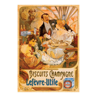 D-Toys Biscuits Champagne - Vintage Poster JigsawPuzzle: 1000 Pcs