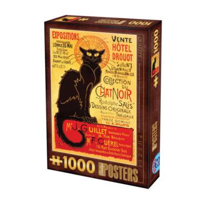 D-Toys Chat Noir Vintage - Poster Jigsaw Puzzle: 1000 Pcs