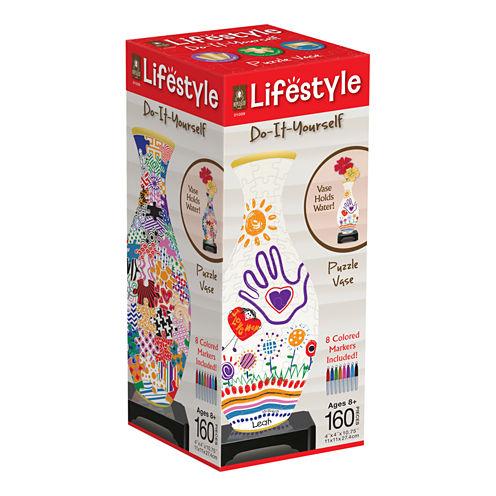 BePuzzled Lifestyle 3D Puzzle Vase - Do-It-Yourself: 160 Pcs