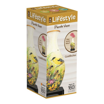 BePuzzled Lifestyle 3D Puzzle Vase - Goldfinches:160 Pcs