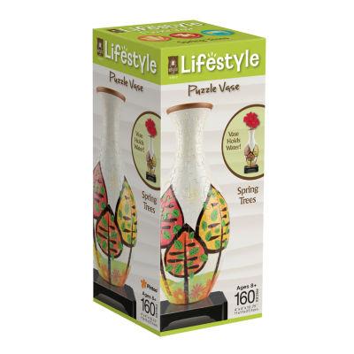 BePuzzled Lifestyle 3D Puzzle Vase - Spring Trees:160 Pcs