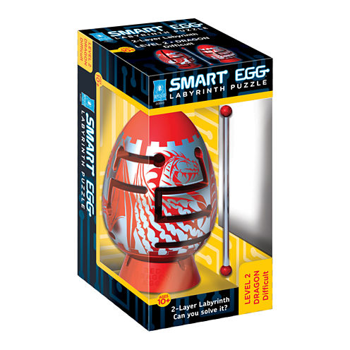 BePuzzled Smart Egg 2-Layer Labyrinth Puzzle - RedDragon: Difficult