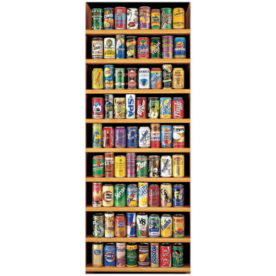 Educa Soft Drink Cans Jigsaw Puzzle: 2000 Pcs