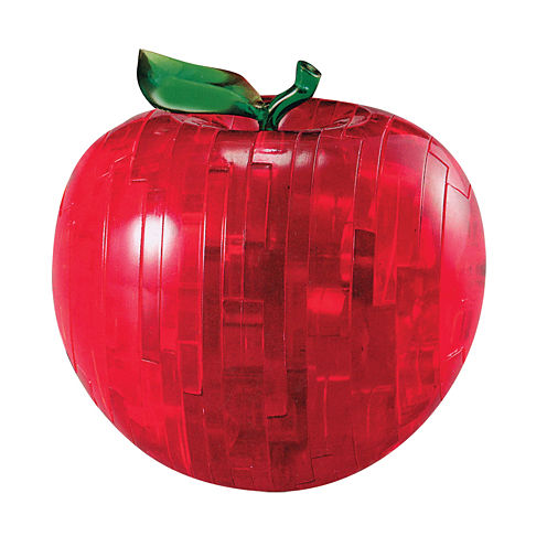 BePuzzled 3D Crystal Puzzle - Apple (Red): 44 Pcs