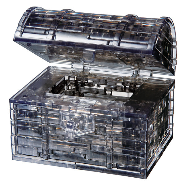 BePuzzled 3D Crystal Puzzle - Black Treasure Chest: 52 Pcs
