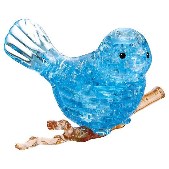 BePuzzled 3D Crystal Puzzle - Blue Bird: 47 Pcs