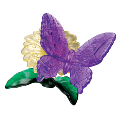 BePuzzled 3D Crystal Puzzle - Butterfly: 38 Pcs