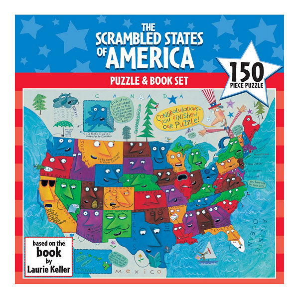 Gamewright Scrambled States of America Puzzle: 150Pcs