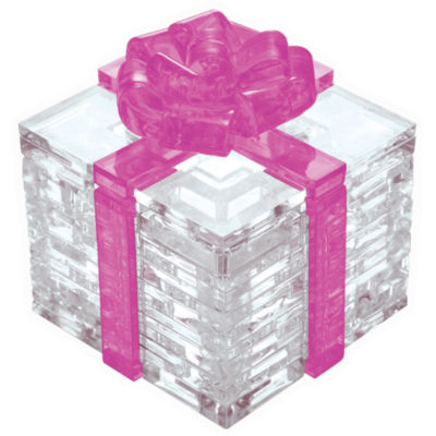 BePuzzled 3D Crystal Puzzle - Gift Box (Pink Bow):38 Pcs