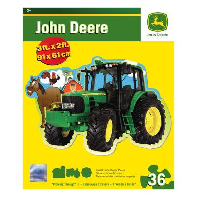 Masterpieces Puzzles John Deere Plowing Through Floor Puzzle: 36 Pcs