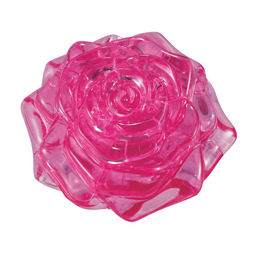 BePuzzled 3D Crystal Puzzle - Rose (Pink): 44 Pcs