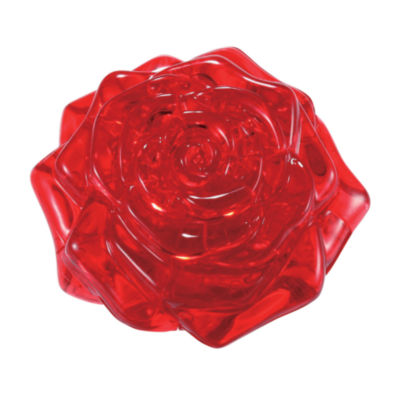 BePuzzled 3D Crystal Puzzle - Rose (Red): 44 Pcs