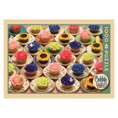 Outset Media Cupcakes and Saucers Jigsaw Puzzle: 1000 Pcs