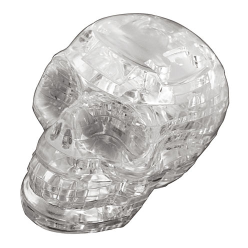 BePuzzled 3D Crystal Puzzle - Skull (Clear): 48 Pcs