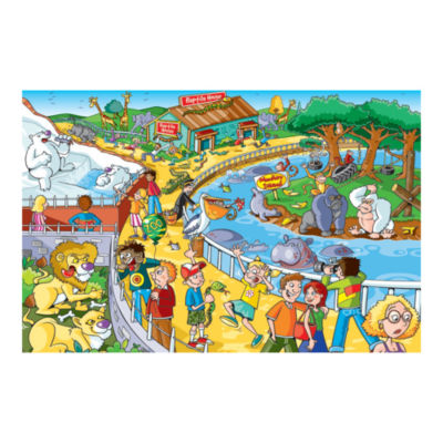 Outset Media Find the Difference Puzzle - A Trip to the Zoo: 60 Pcs